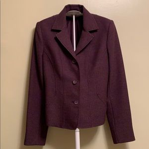 H&M purple three button blazer